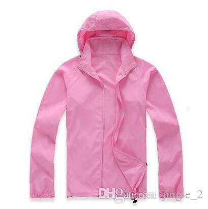 L'estate degli uomini nuovi di marca asciugatura rapida all'aperto sport casuali impermeabile pelle anti giacche UV cappotti giacca a vento nero bianco più il formato 3XL