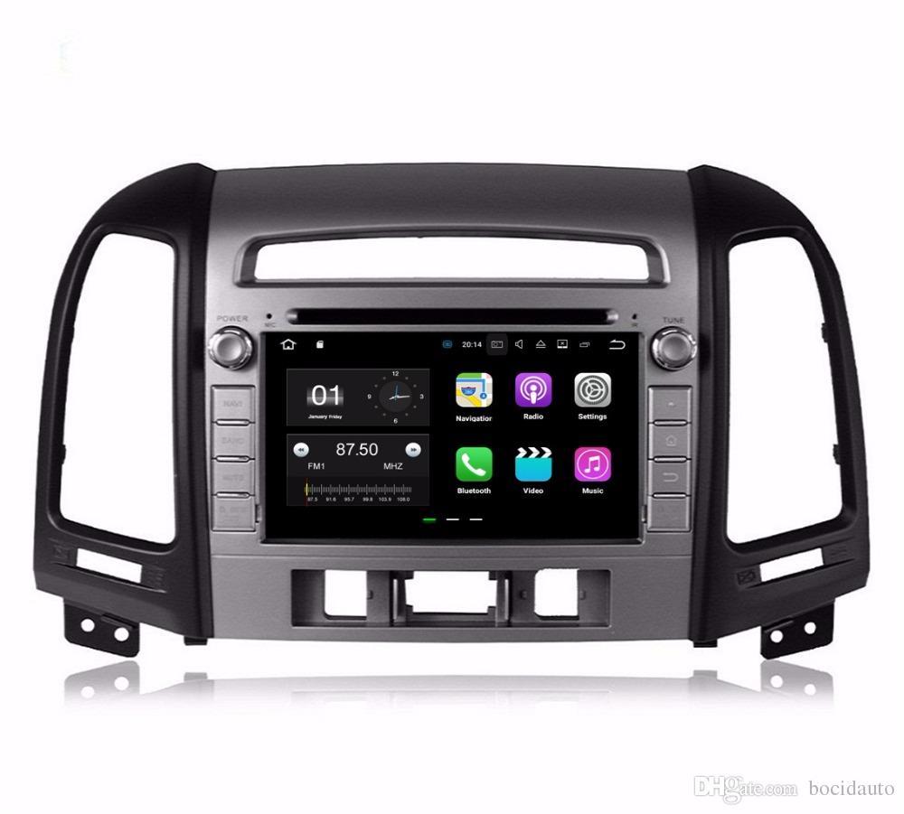 """رباعي النواة 7 """"أندرويد 7.1 سيارة دي في دي راديو الوسائط المتعددة لشركة هيونداي سانتا في 2006-2012 مع 2GB RAM GPS بلوتوث WIFI 16GB ROM"""