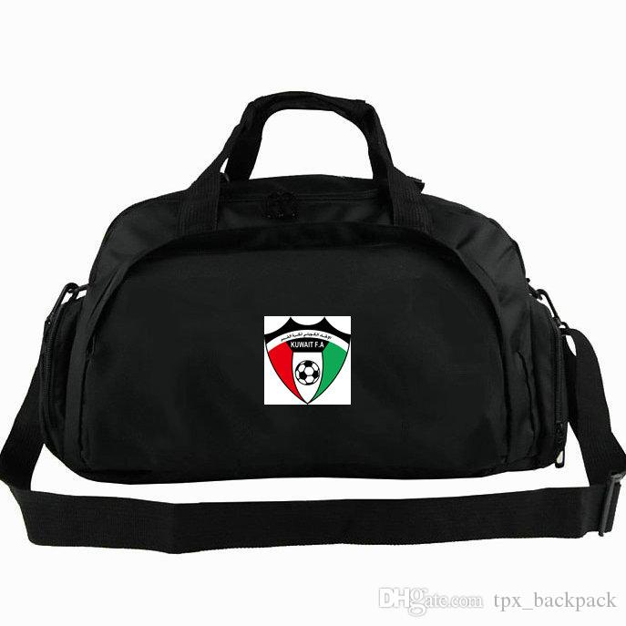 Kuwait duffel bag KWT national tote FA game state Football team backpack Soccer 2 way use luggage Sport shoulder duffle Badge sling pack