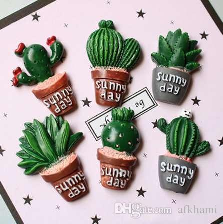 Creativo suculentas planta forma imán de nevera lindo simular verde cactus decorativa refrigerador recuerdo etiqueta