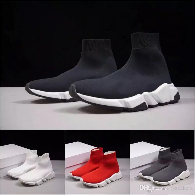 Frist kalite Hız çorap yüksek kalite Hızlı Eğitmen koşu ayakkabıları erkekler ve kadınlar için spor ayakkabı Hız streç örme Orta sneakers, 5-11