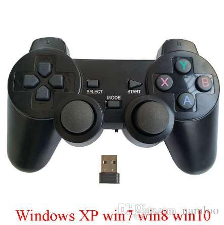 Wireless computer game controller PC gamepad with double joystick double vibration mini USB dongle for Winows XP/win7/win8/win10