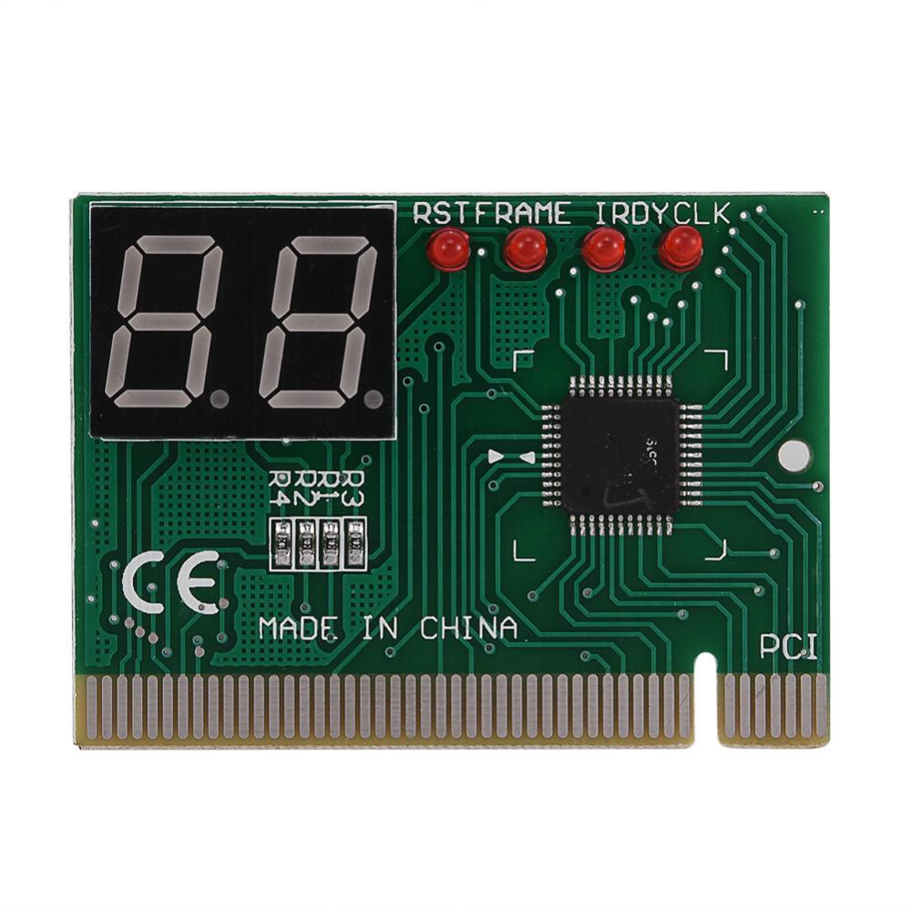 Freeshipping Nuovo 2 Digit PCI PC scheda diagnostica scheda madre tester Analyzer Post per computer portatile accendere scheda Self Test