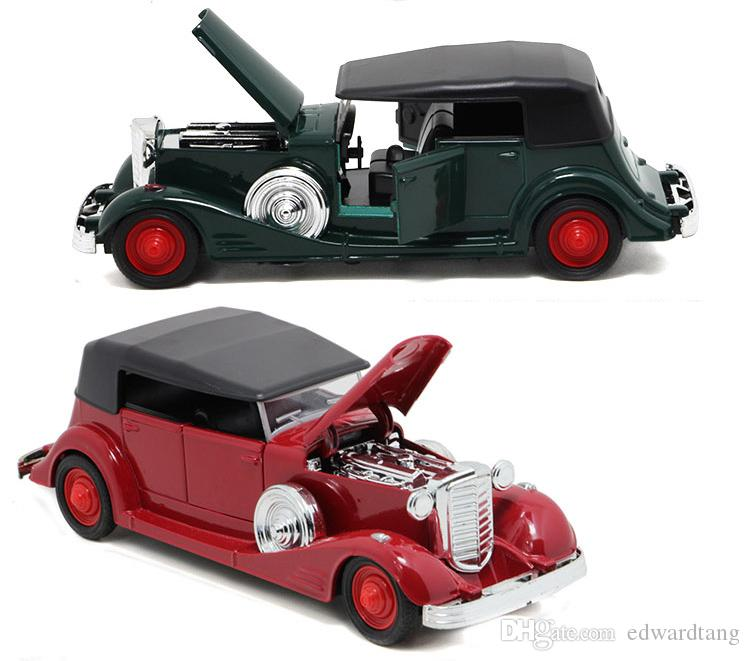 Alloy Car Model Toy,Rolls-Royce Retro Classic Vintage Car, Light Sound, Pull-back, for Party Kid' Birthday' Gift, Collecting, Home Decoratio