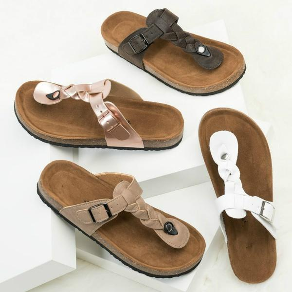 premium selection hot product fast delivery Summer Women Solid Flat Sandals Soft Leather Sandals Women Beach Shoes  Slippers Sandals Thick Soled Sandal Size 34 43 Silver Sandals Gold Sandals  From ...