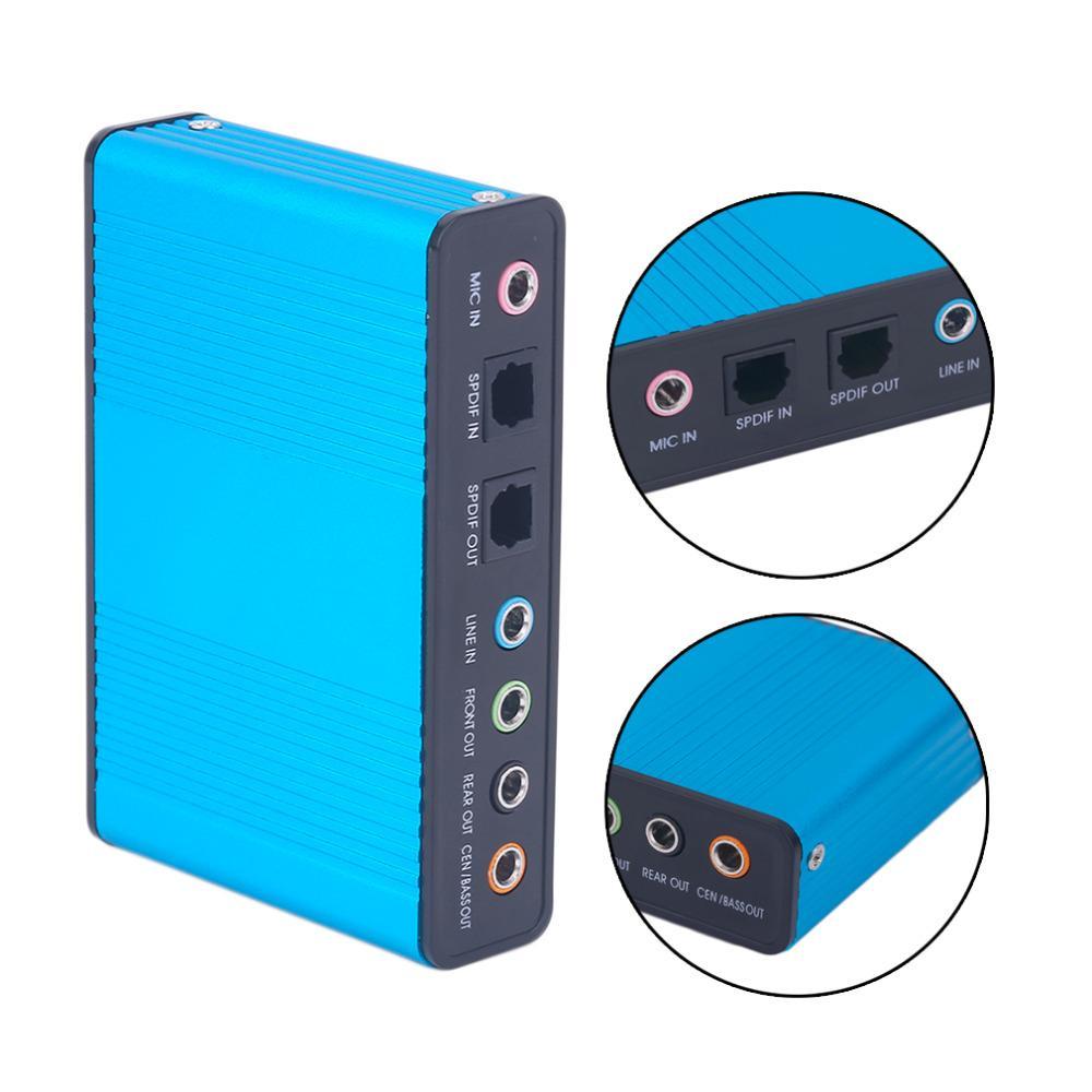 Chaîne de carte de son USB externe FreeShipping 5.1 7.1 Adaptateur de carte audio optique pour ordinateur portable ordinateur portable chaud nouveau professionnel
