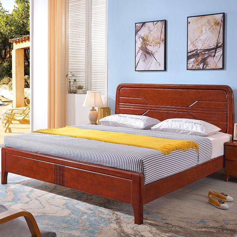 Großhandel Massivholz Eiche Doppelbett Moderne Minimalistische Schlafzimmer  Wirtschaft Erwachsene 1,8 M Nachttisch Bett Gesetzt Von Baihexinyuanjiaju,  ...