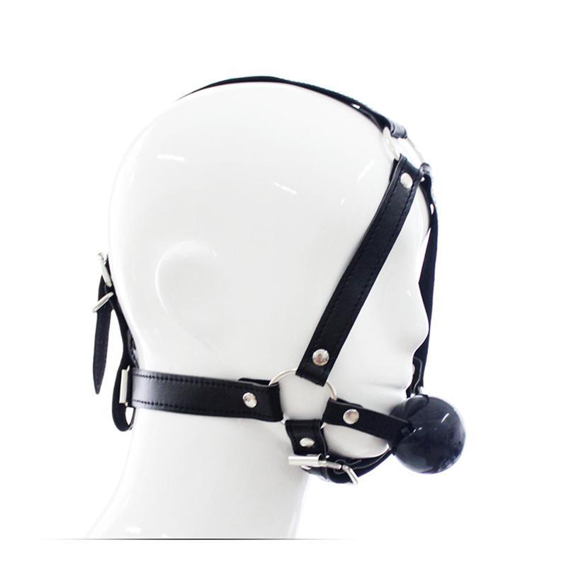 Fetiche Aberto para Máscara Boca Cabeça Harness Flerting Contenção Adulto Casais Casais Gag Bondage Game Produtos Brinquedo Para Casais Mulheres Dubrw