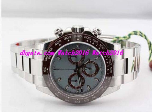 Bracciale in acciaio inossidabile di lusso di alta qualità Platinum 116506 Orologio da uomo Orologio meccanico automatico da uomo 40MM OROLOGI
