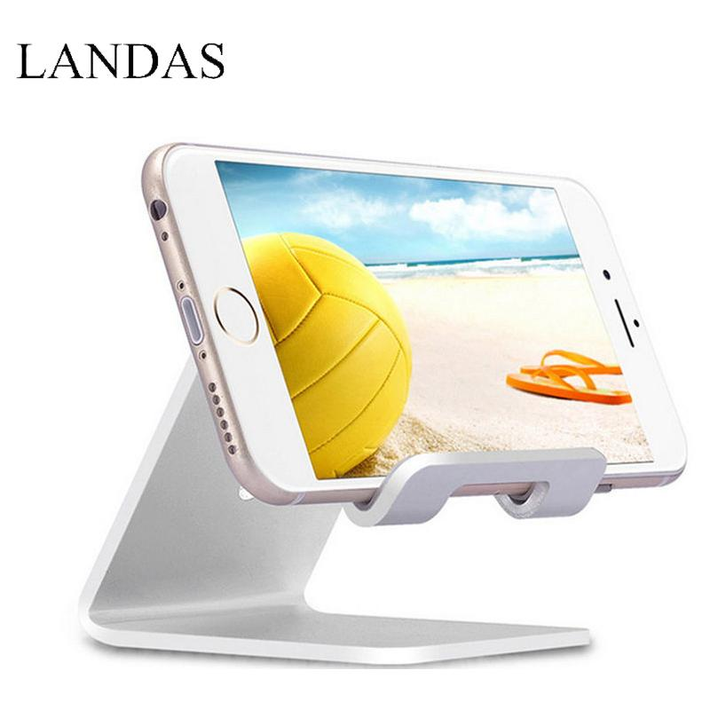 Landas Universal upgrade Tablet stand for iPhone for xiaomi for Huawei Tablet PC stand car metal bracket desktop multi-function