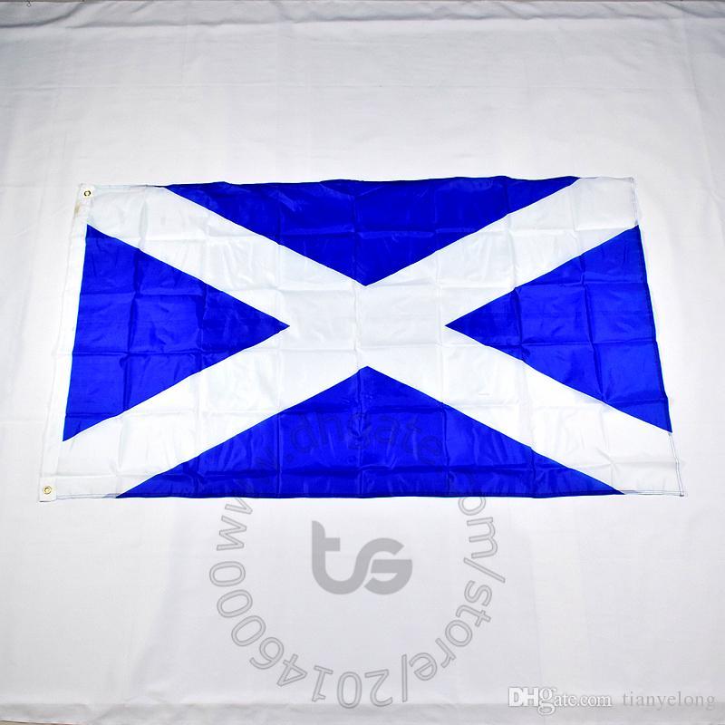 스카치 / 스코틀랜드 국기 무료 배송 3X5 FT / 90 * 150cm 매달려 국기 스카치 / 스코틀랜드 홈 장식 배너