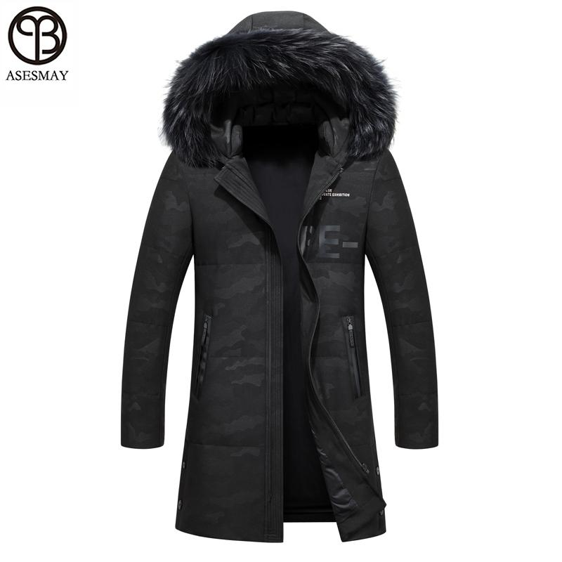 cf9353b98 2019 Asesmay Men Down Jacket Men'S Winter Coats Brand High Quality Mens  Parka Winter Mens Jackets Goose Feather Hooded Camouflag Coat From  Armani09, ...