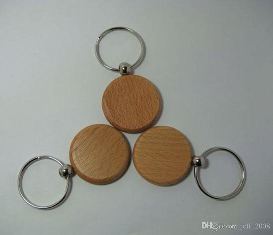 Atacado-500pcs-Blank-Wooden-Key-Cadeia-DIY-Promoção-Customized-Key-Tags-Brindes Promocionais