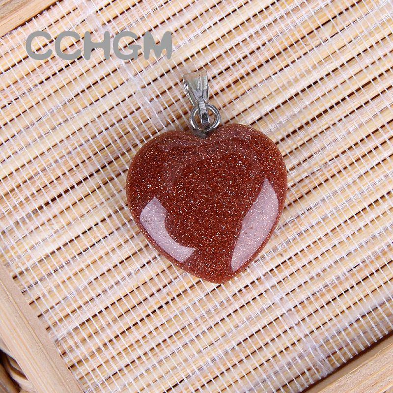 Оптовая продажа ассорти мода смешанный цвет натуральный камень Шарм Кристалл подвески подвески сердце бусины для изготовления ювелирных изделий хорошее качество подходит ожерелье