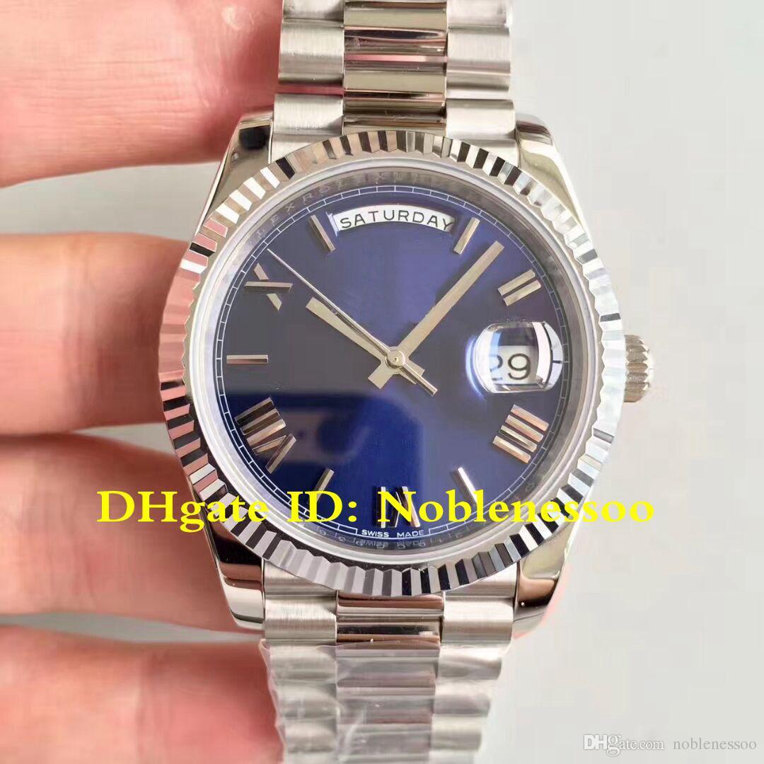 탑 시계 5 스타일의 럭셔리 남성 데이 날짜 대통령의 40mm 블루 로마 228,239 228,206 CAL.3255 자동 이동 EW 메이커 시계