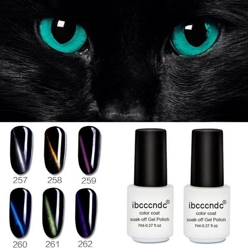 Ibcccndc Brand 7ml Soak Off Gel Polish Color Coat Top Long Lasting Uv Gels Nails Art Manicure Varnish 6 Colors Beauty Women