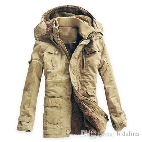 2018 Nova Moda Jaqueta de Inverno Homens Marcas Parkas Casaco de Espessamento Respirável Quente Casaco de Algodão-Acolchoado frete grátis hot