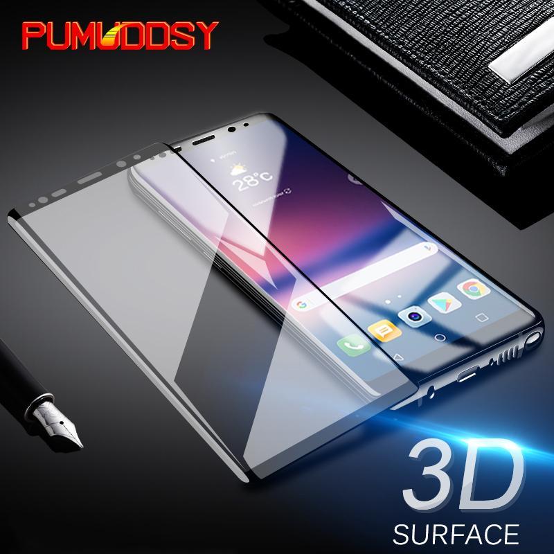 Cristal ultrafino de la cubierta completa 3D para Samsung Note 8 Película de protección de pantalla para Samsung Galaxy S7 Edge S8 S9 Plus de vidrio
