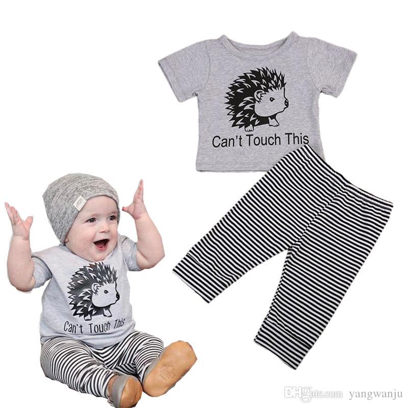 2Pcs Baby Boys Summer Outfits Short-Sleeve T-shirt+Bib Pants Set 9 12 18 M 2-3Y