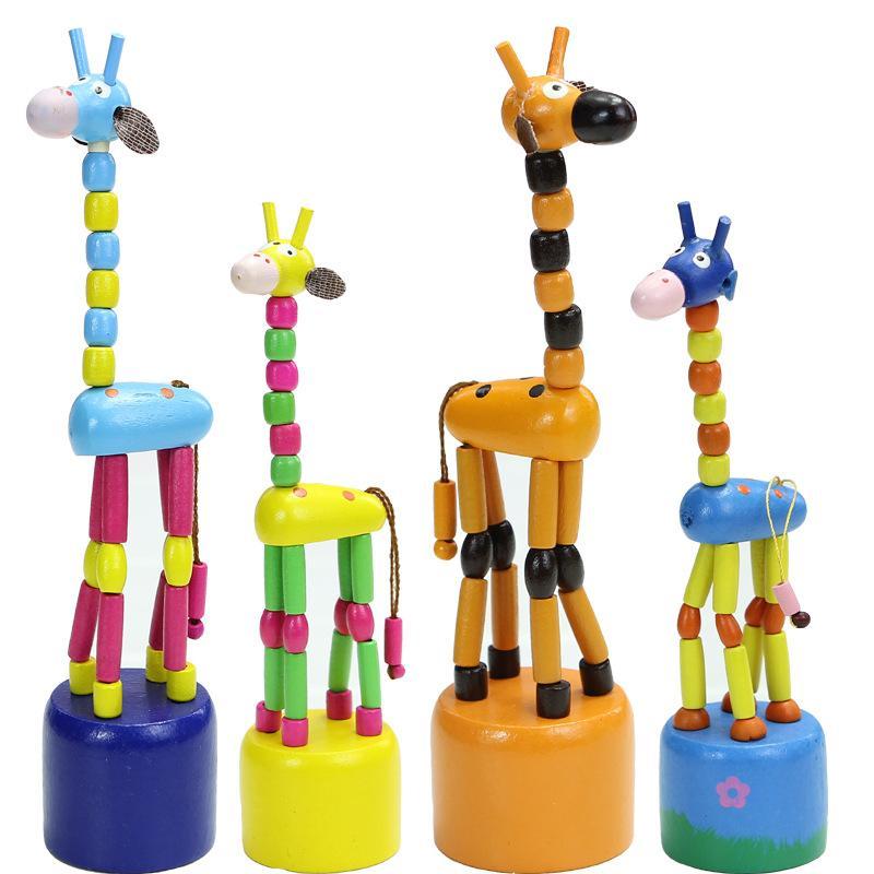 재미있는 아이, 나무 장난감, 지능형 동물, 사슴, 나무 장난감 완구