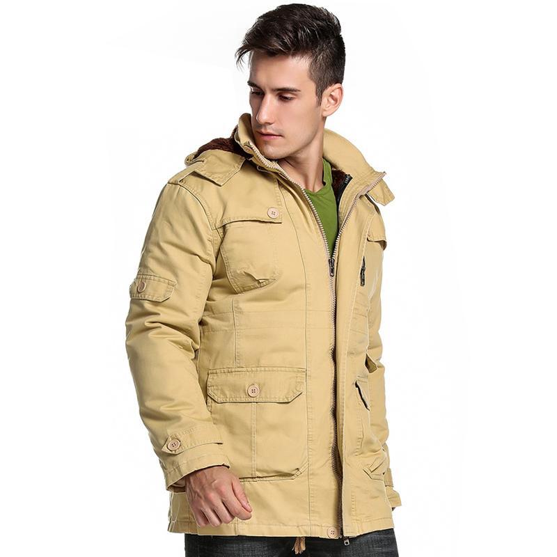 Drop Shipping 2018 Giacca invernale Slim Fit Giacca lunga e cappotto di pelliccia Parka giacca a vento Outwear AXP212