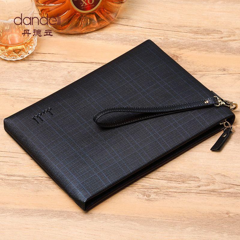 Dandeli Fine Business Envelope Bag Men Document Briefcase Handbag Wristlet Bag 2 Colors Hot Sale Fashion Men Srtiped Shopping