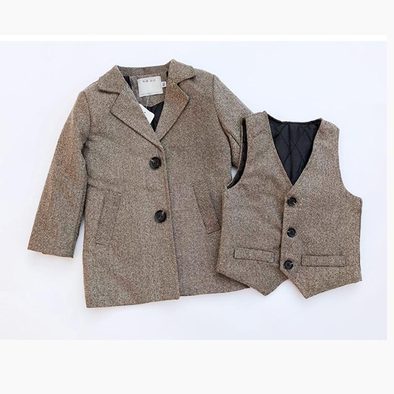 top fashion skilful manufacture outlet online 2019 Winter Baby Boy Clothes Set Thick Wool Windbreaker Long Jackets Coats  + Vest Two Piece Set Formal Suits Christmas Clothes From Dejavui, $64.59 |  ...