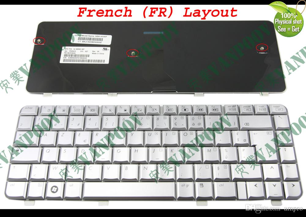 New Notebook Laptop keyboards for HP Pavilion dv4 dv4t dv4-1000 dv4-1200 dv4-1300 dv4-2000 Silver French FR AZERTY Clavier - NSK-H590F