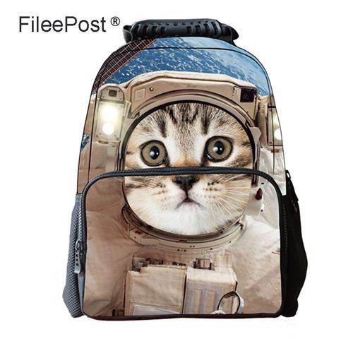 eda423631cec Ноутбук рюкзак сумка 3D животных печатает молния износостойкие свет  уменьшение дышащий кошка собака лев тигровая акула