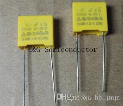 100PCS X2 0.1UF 104 100NF 275V P=10MM Regulation DIP Polypropylene Film Capacitor