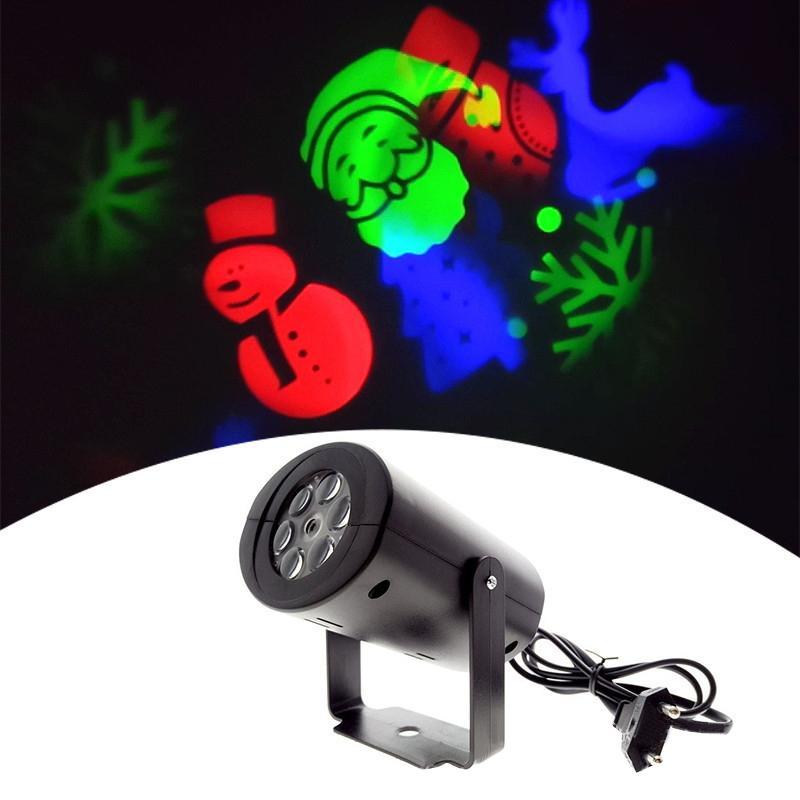 Noël Projecteur laser DJ LED de scène RVB Père Noël Bonhommes flocon de neige Bat Party Paysage Lumières de jardin Lampe Éclairage extérieur