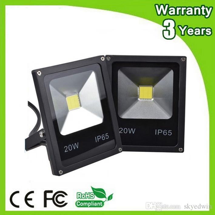 (10PCS/Lot) AC85-265V 12V LED Flood Light LED Floodlight 20W DC12V 24V 100-110LM/W Thick Housing 3 Years Warranty High Brightness