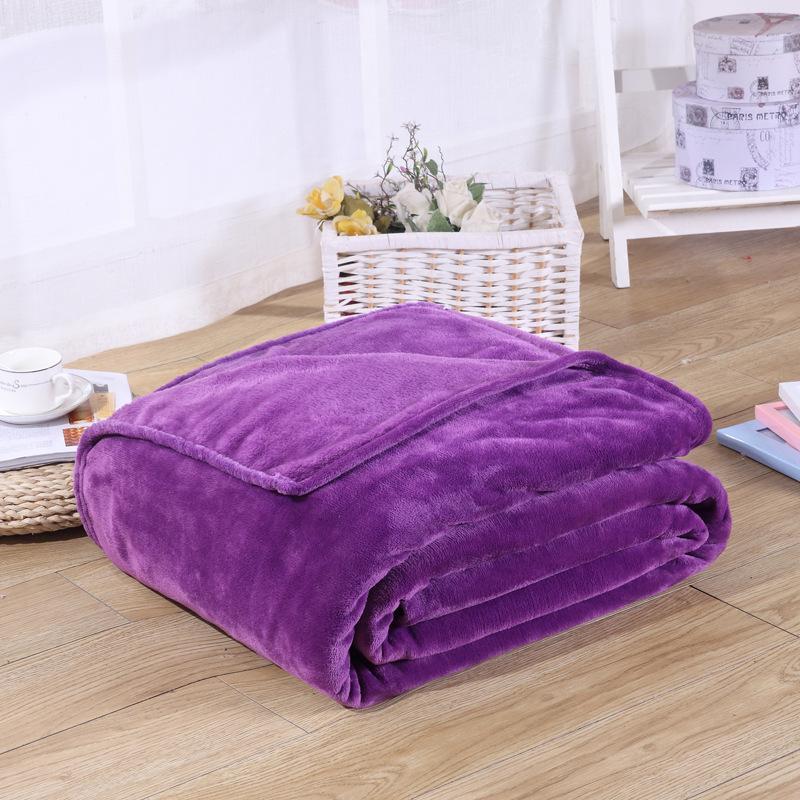 Franela Manta de lana de Coral Tela de 16 Estilos Manta de Rectángulo 6 Mantas de tamaño suave Mantas de color púrpura, azul, marrón, rojo, naranja, rosa
