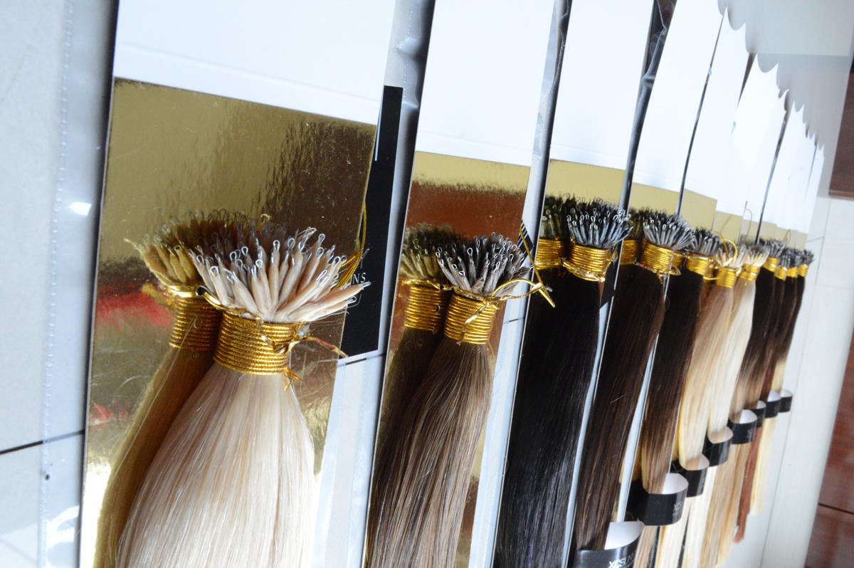 XCSUNNY Estensioni dei capelli Nano Vergine 6A 100 perline Nano Rings Estensioni dei capelli umani 18 20 pollici 100gram / pk Estensioni dei capelli Nano Ring