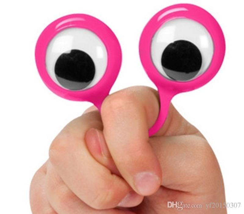 Глаз палец куклы пластиковые кольца с шевелить глазами партия выступает за детей разных цветов подарок игрушки наполнители BirthdayParty