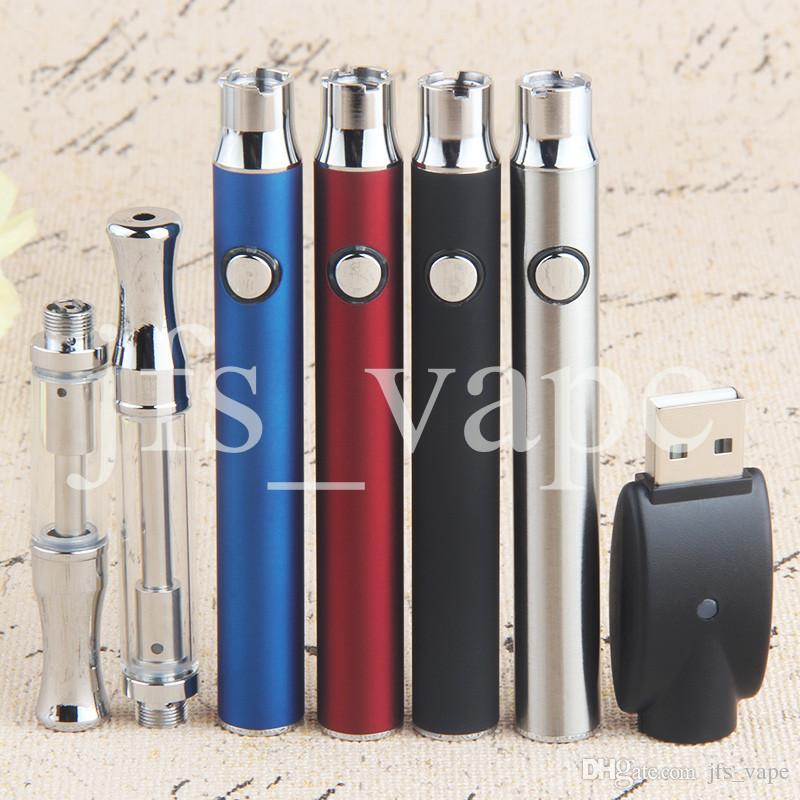 Bouton Stylus Batterie O Pen Ce3 Kits de démarrage Vaporisateur Bourgeon Bud Kit bouton 510 Étui en aluminium pour cartouche de cire à l'huile de cire