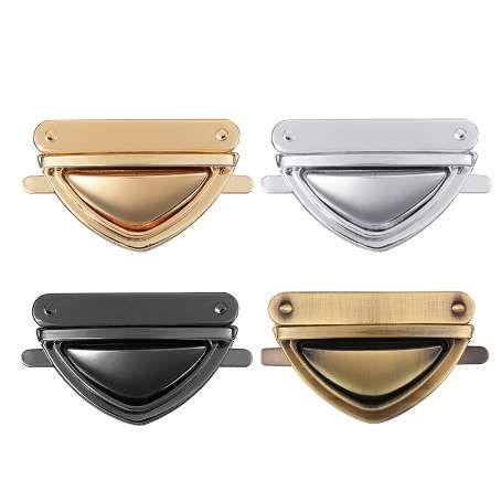 Osmond DIY Saco Acessórios Peças de Metal Turn Clasp Fecho Para Fecho de Fechaduras Da Malha Hardware Fechamento Da Bolsa Bolsa de Bronze Preto