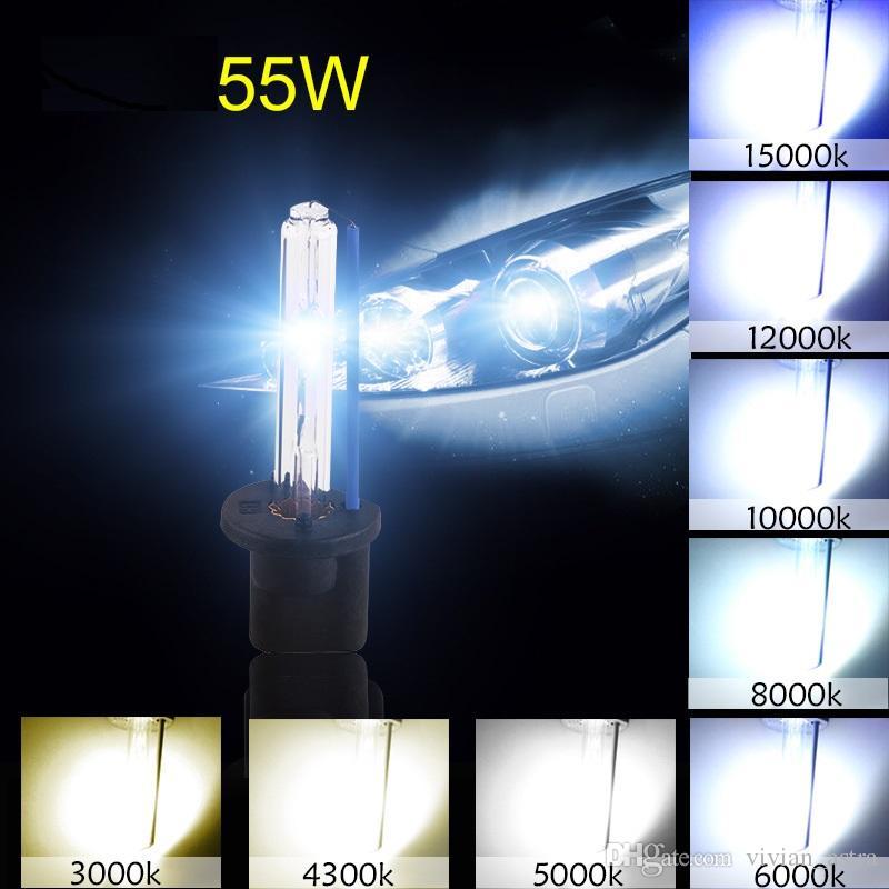 H1 H3 H7 H8 H9 H11 H10 HID Xenon Lamp Farol lâmpadas brancas substituição 6000K 12V 55W Nevoeiro luz Car Light Source Auto