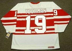 7248fd1f STEVE YZERMAN Detroit Red Wings 1992 CCM Vintage M&N Custom Any Name&No.  Hockey Personalized Jerseys