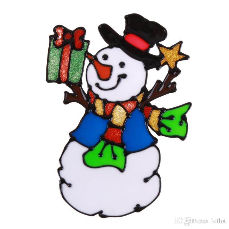 Adesivos de Vidro de Silicone de natal Grande Janela Da Porta Da Parede Colado Xmas Ornamentos Decoração de Natal Ano Novo Decorações para casa