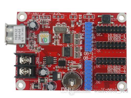 Freie Verschiffen TF-A6U drahtlose USB-LED-Controller-Kartenunterstützung Einzelne, doppelte, farbenreiche LED-Module