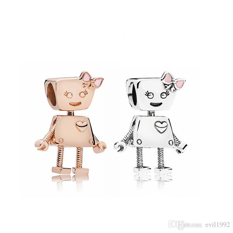 20pcs 골드 실버 컬러 귀여운 합금 비즈 매력 Pandora DIY 쥬얼리 유럽 팔찌 뱅글 여성 여자 선물 B007