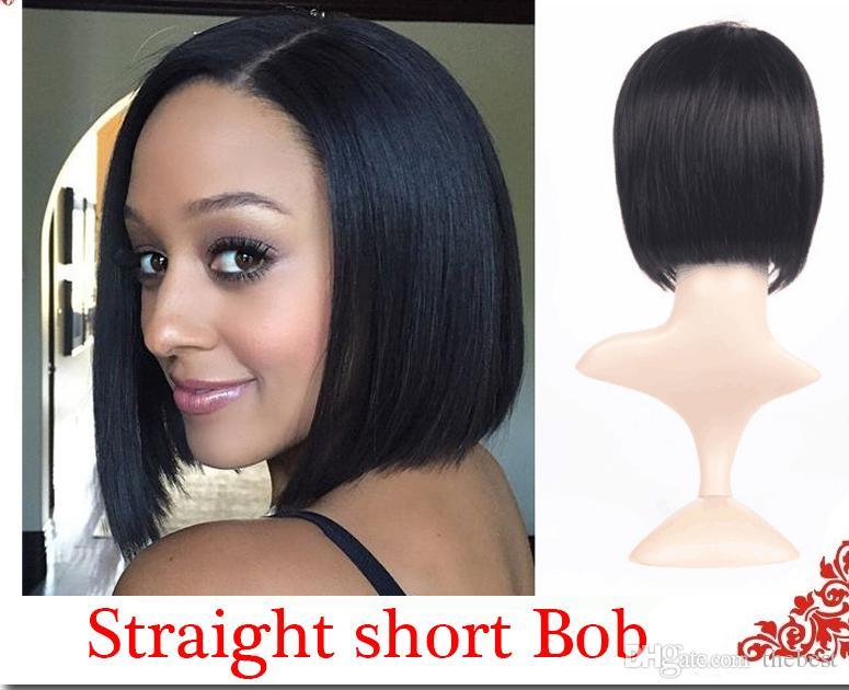 الباروكات للنساء السوداء pixie قطع الباروكات الشعر البشري قصيرة للنساء السود بوب كامل الرباط الجبهة الباروكات مع شعر الطفل للأفارقة