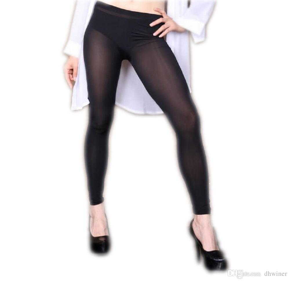c7ae8c4950e5cb ... Sexy Women's Semi See-through Slim Fit Pants Sports Yoga Pants Leggings  ...