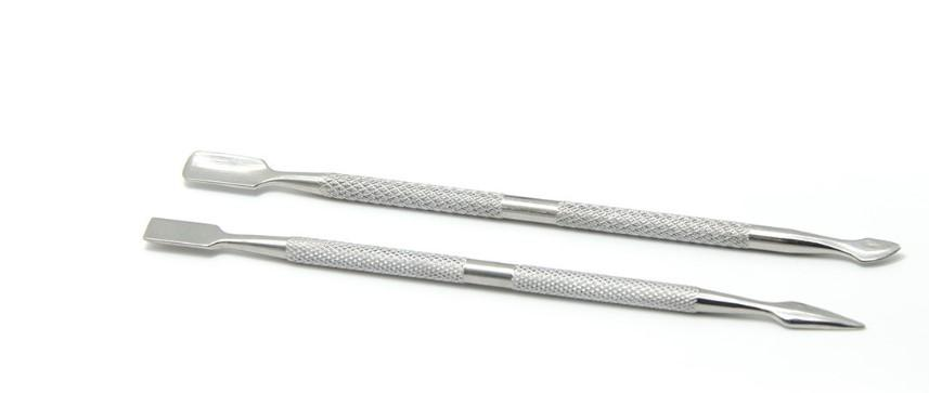 double-end Stainless Steel Cuticle Remover Double Sided Finger Dead Skin Push Nail Cuticle Pusher Manicure Nail Care Tool