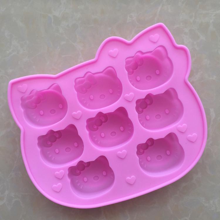 8 loch Cathead Silikon Schokoladen Aromatherapie Reis Pudding Modell Hohe Temperaturbeständigkeit Einfach Sauber backen werkzeuge für kuchen