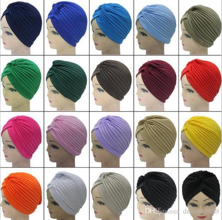 Unisex India Cap Mulheres Turbante Chapéu Headwrap Skullies Gorros Homens Bandana Orelhas Protetor de Cabelo Acessórios frete grátis