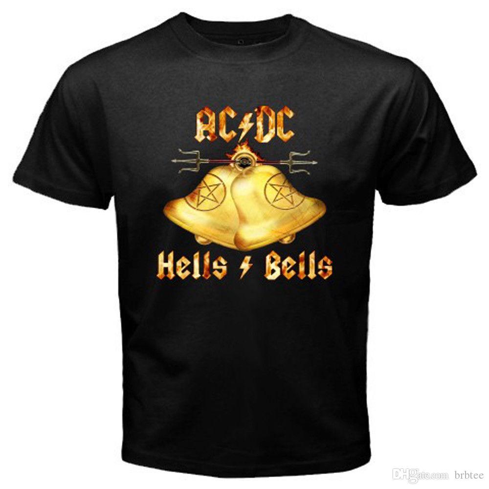 AC DC Hell/'s Bells Rock Band Legend Men/'s Long Sleeve Black T-Shirt Size S-3XL