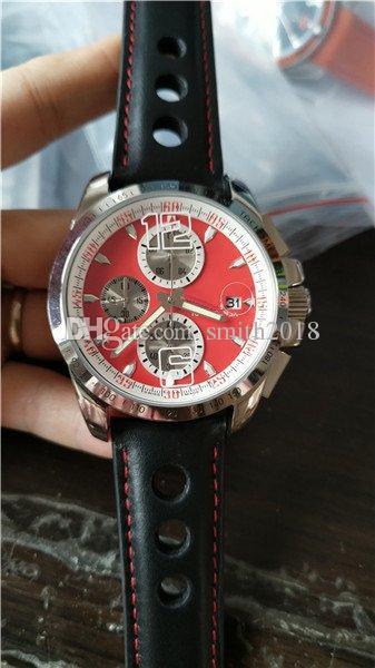 Adam için sıcak satış lüks İzle kuvars kronometre adam saatler paslanmaz çelik bilek İzle deri band cp27