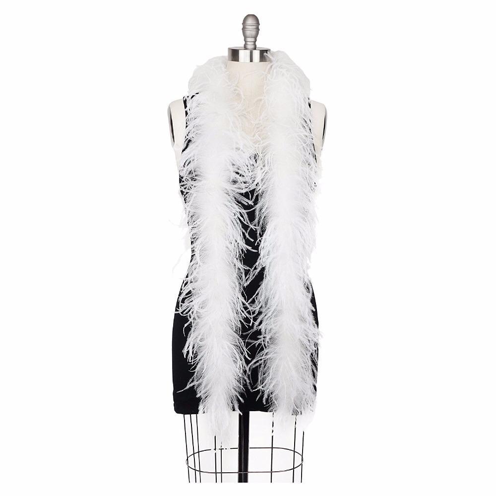 New White Ostrich Feather Boa Party Decorations Scarf Turkey Feather Boa Marabou Boa New Fashion Beauty